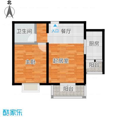 香水湾68.50㎡A2户型1室1厅1卫