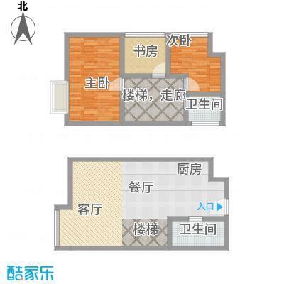 YOHO湾87.00㎡复式D6-7户型3室2厅2卫