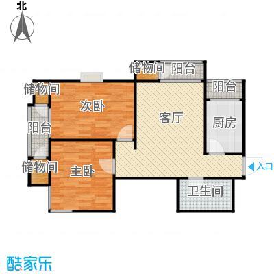 天保金海岸明珠湾B户型2室1厅1卫1厨