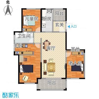 金辉城9#楼06室115平米户型