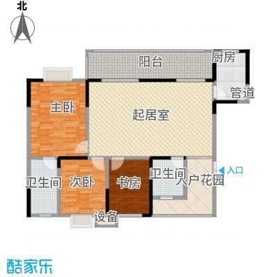 树高卡地亚120.00㎡树高卡地亚户型图F1'3室2厅2卫1厨户型3室2厅2卫1厨