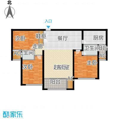 建业森林半岛132.98㎡建业森林半岛D03(12#)3室2厅2卫1厨132.98㎡户型3室2厅2卫1厨