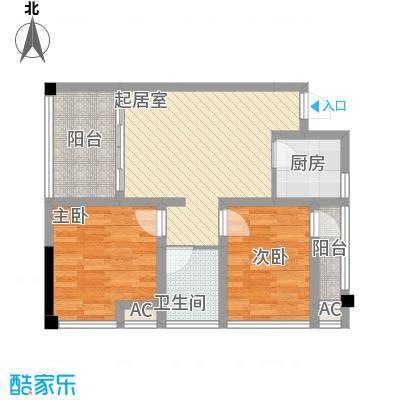 尚高・锦都尚高・锦都户型图一号楼2号二室二厅一卫户型10室