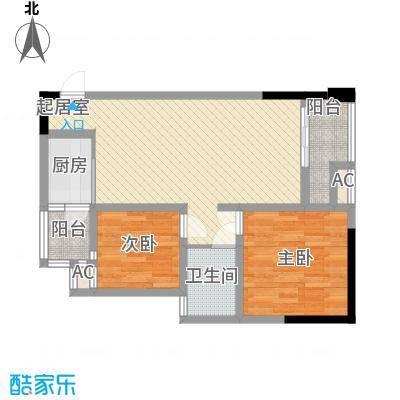 尚高・锦都尚高・锦都户型图2号楼4号二室二厅一卫2室2厅1卫户型2室2厅1卫