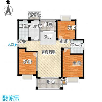 福瑞嘉园142.48㎡福瑞嘉园户型图F户型3室2厅2卫1厨户型3室2厅2卫1厨