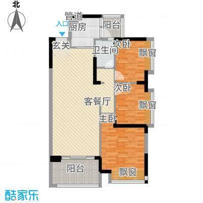 宝麒花园105.00㎡宝麒花园户型图B1户型图3室2厅1卫1厨户型3室2厅1卫1厨
