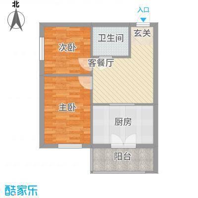 新宏基御景园御景园 3号楼2户型 2室1厅1卫1厨 69.46㎡
