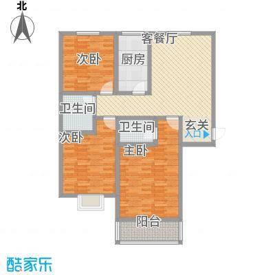 富通・香树湾富通DM-反 5 3室1厅1卫1厨 135.00㎡