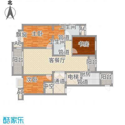 昆河壹号户型图D3户型 3室2厅2卫1厨