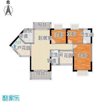 领域882栋A座02单元 3室2厅2卫1厨 117.32㎡