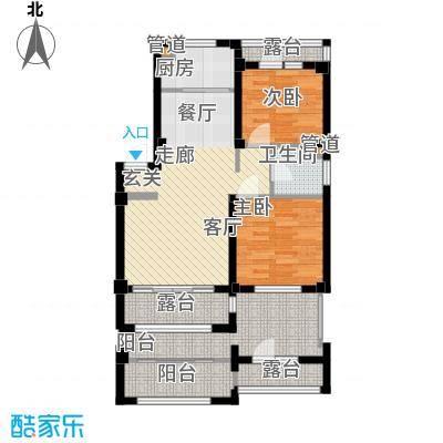 凯隆・城市广场中央观邸_E_160x285mm 2室2厅1卫1厨 85.11㎡