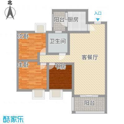 世隆华都户型图G 3室2厅1卫