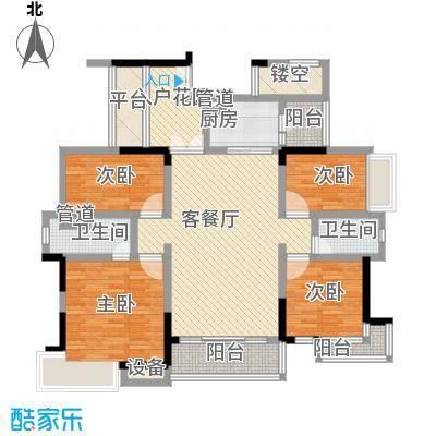 富湾国际116.00㎡富湾国际户型图二期4栋03户型4室2厅2卫1厨户型4室2厅2卫1厨