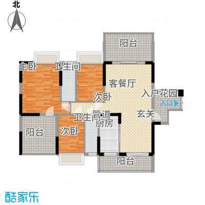 宝麒花园128.00㎡宝麒花园户型图B3户型户型图3室2厅2卫1厨户型3室2厅2卫1厨