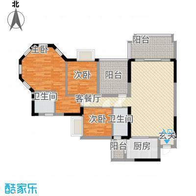 朗晴名门133.00㎡朗晴名门户型图户型图3室2厅2卫1厨户型3室2厅2卫1厨