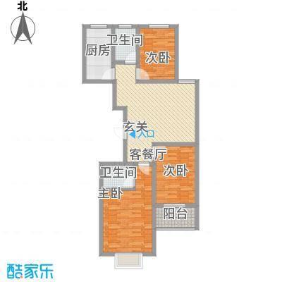 富通・香树湾富通DM-反 3 3室1厅1卫1厨 116.50㎡