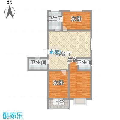 富通・香树湾富通DM-反 4 3室2厅1卫1厨 128.00㎡