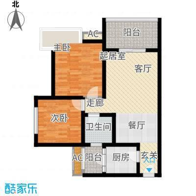 九鼎蓝波湾82.64㎡九鼎蓝波湾E户型10室