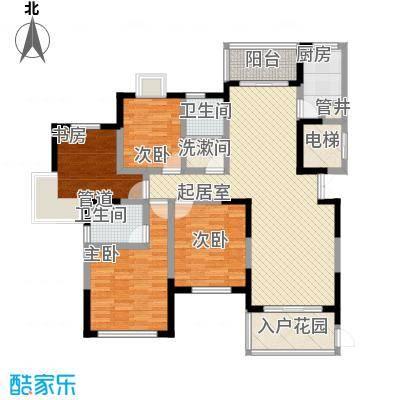 泰和天成户型图一期3号楼B户型 4室2厅2卫1厨