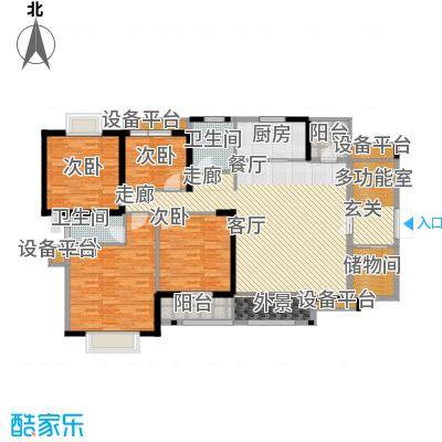 华强城・卡塞雷斯J01户型 4室2厅2卫1厨 164.20㎡