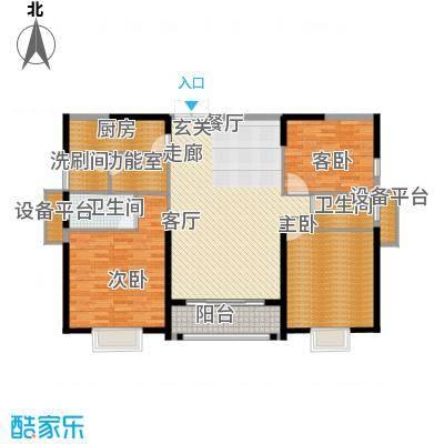华强城・卡塞雷斯J03户型 3室2厅2卫1厨 132.00㎡