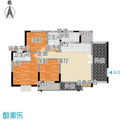 华强城・卡塞雷斯D01户型 3室2厅2卫 132.00㎡
