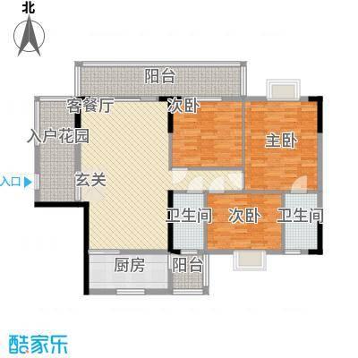 朗晴轩主力户型2 3室2厅2卫1厨 118.00㎡