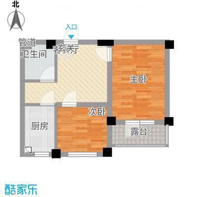 凯隆・城市广场C_600x800mm 2室1厅1卫1厨 58.92㎡