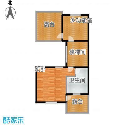 柳溪美庐70.00㎡hx-lxml-lianpai-f4-max户型1室1卫