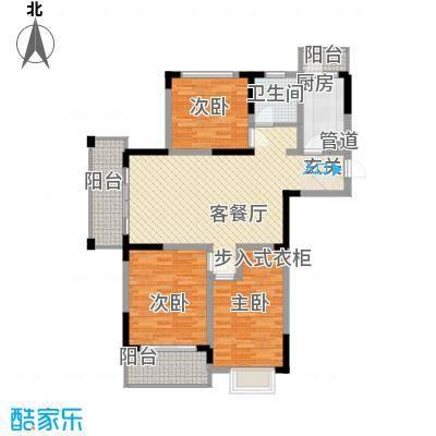 怡景花园127.10㎡怡景花园户型图G1户型3室2厅1卫1厨户型3室2厅1卫1厨