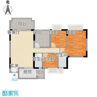 朗晴名门132.00㎡朗晴名门户型图户型图3室2厅2卫1厨户型3室2厅2卫1厨