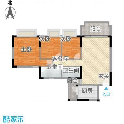 朗晴名门117.00㎡朗晴名门户型图户型图3室2厅2卫1厨户型3室2厅2卫1厨