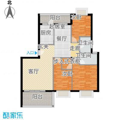 名人港湾133.94㎡名人港湾户型图3#B3室2厅2卫1厨133.94㎡户型3室2厅2卫1厨