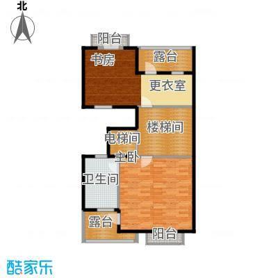 柳溪美庐85.00㎡hx-lxml-lianpai-a4-max户型2室1卫