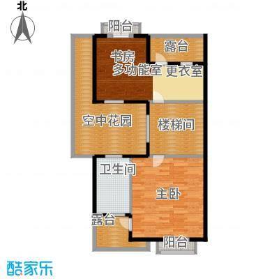 柳溪美庐82.00㎡hx-lxml-lianpai-b4-max户型1室1卫