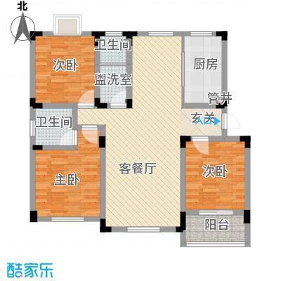 御水天成120.00㎡御水天成户型图H-A6户型3室2厅1卫户型3室2厅1卫