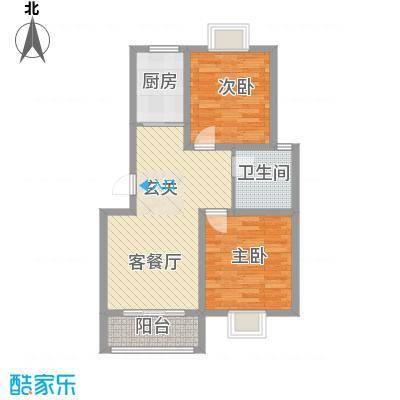 御水天成85.00㎡御水天成户型图5号85平2室2厅1卫户型2室2厅1卫