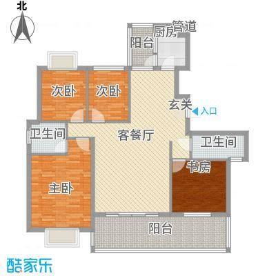 家运天城116.20㎡家运天城B组团34JO号楼户型4室2厅2卫1厨116.20㎡户型4室2厅2卫1厨