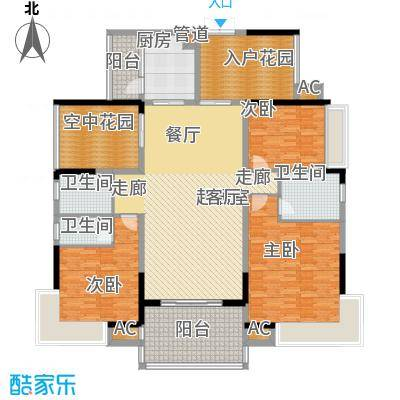 翡翠山河170.16㎡翡翠山河11、14座03房3室2厅2卫170.16㎡户型3室2厅2卫