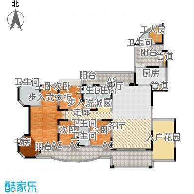 翡翠山河354.17㎡翡翠山河12、13座楼王01、02房4室2厅2卫354.17㎡户型4室2厅2卫