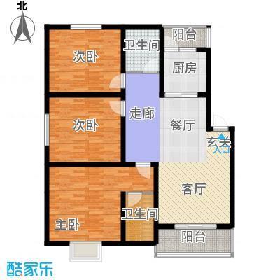 锦华小区120.21㎡锦华小区C户型-3室2厅2卫2阳台3室2厅2卫120.21㎡户型3室2厅2卫