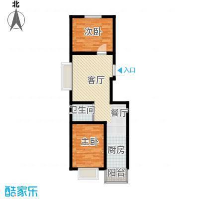 枫林逸景65.95㎡DB-480户型2室1厅1卫