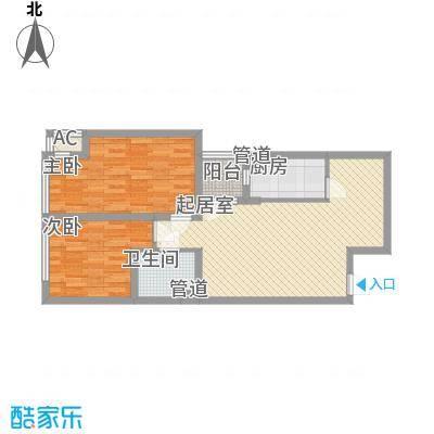 锦湖花园74.43㎡锦湖花园户型图52室1厅1卫74.43㎡户型2室1厅1卫