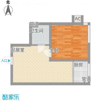 锦湖花园51.44㎡锦湖花园户型图21室1厅1卫51.44㎡户型1室1厅1卫