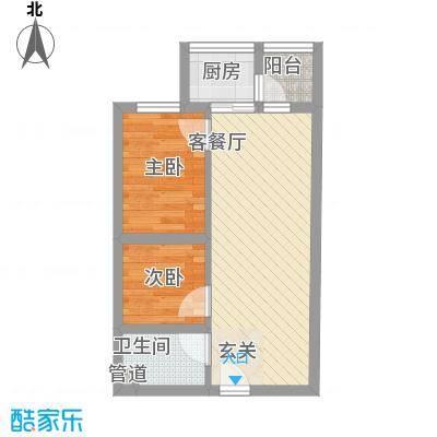 祈福海湾二期53.04㎡祈福海湾二期A型户型53.04㎡户型10室