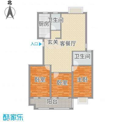 东盛・公园1号东盛・公园1号三室两厅两卫户型10室