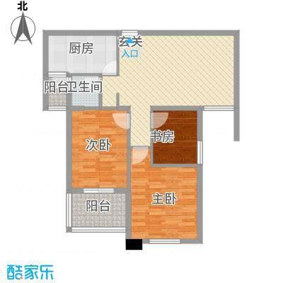 华茂万和城95.28㎡华茂万和城户型图G3户型图3室2厅2卫1厨户型3室2厅2卫1厨