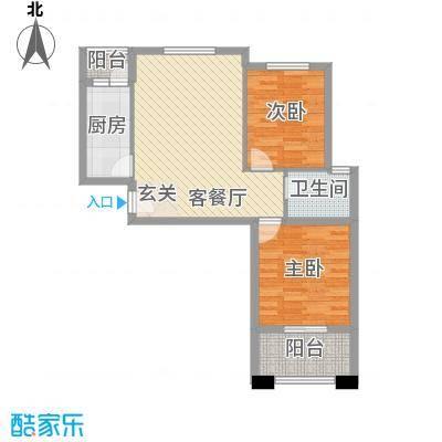 华茂万和城85.91㎡华茂万和城户型图G5户型图2室2厅2卫1厨户型2室2厅2卫1厨