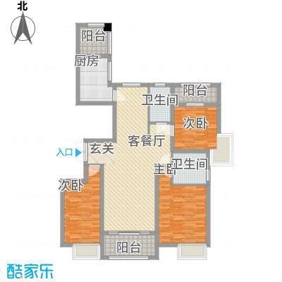 万达华府139.40㎡万达华府9#楼C1-9三室两厅两卫3室2厅2卫139.40㎡户型3室2厅2卫