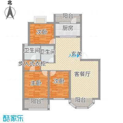 尚书苑二期146.58㎡尚书苑二期户型图2-B户型3室2厅2卫1厨户型3室2厅2卫1厨
